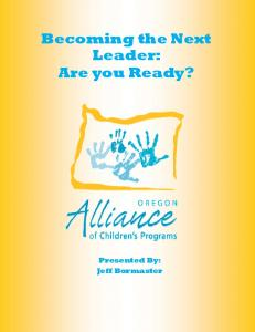 Becoming the Next Leader: Are you Ready?