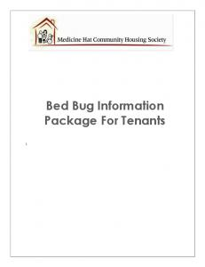 Bed Bug Information Package For Tenants
