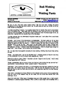 Bed-Wetting & Wetting Pants