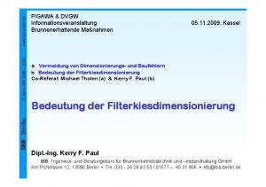 Bedeutung der Filterkiesdimensionierung
