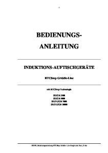 BEDIENUNGS- ANLEITUNG