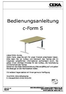 Bedienungsanleitung c-form S