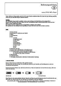 Bedienungsanleitung. cocos-stylo MP3-Player