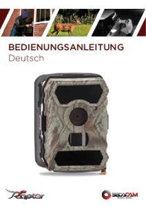 BEDIENUNGSANLEITUNG Deutsch