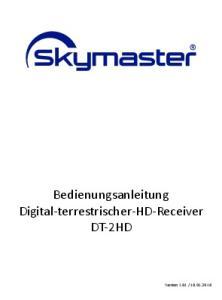 Bedienungsanleitung Digital-terrestrischer-HD-Receiver DT-2HD