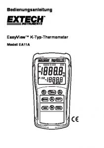 Bedienungsanleitung. EasyView K-Typ-Thermometer. Modell EA11A