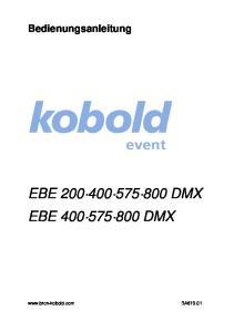 Bedienungsanleitung EBE DMX EBE DMX