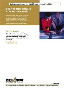Bedienungsanleitung etm Betriebsmodul
