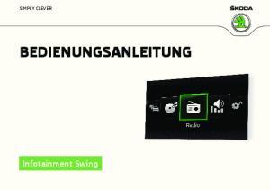 BEDIENUNGSANLEITUNG Infotainment Swing