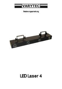 Bedienungsanleitung. LED Laser 4