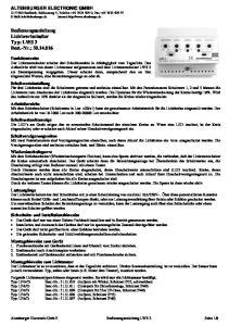 Bedienungsanleitung Lichtwertschalter Typ: LWS 3 Best.-Nr.:
