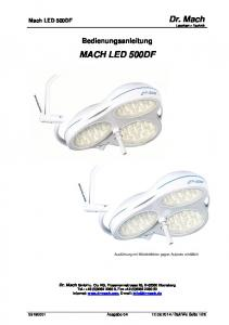 Bedienungsanleitung MACH LED 500DF