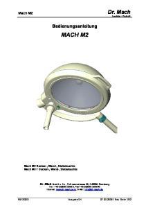 Bedienungsanleitung MACH M2