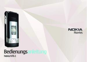 Bedienungsanleitung. Nokia N76-1