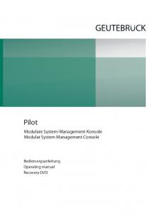 Bedienungsanleitung Operating manual Recovery DVD