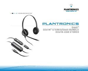 BEDIENUNGSANLEITUNG. Plantronics DA45 TM D261N TM