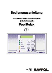 Bedienungsanleitung. Pool Relax