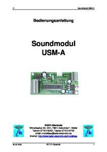 Bedienungsanleitung. Soundmodul USM-A
