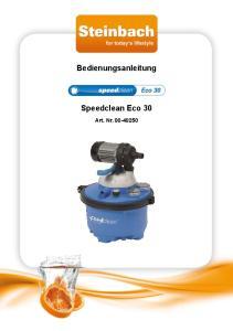 Bedienungsanleitung. Speedclean Eco 30