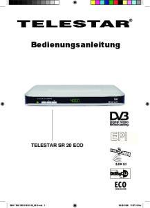 Bedienungsanleitung TELESTAR SR 20 ECO