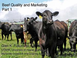 Beef Quality and Marketing Part 1
