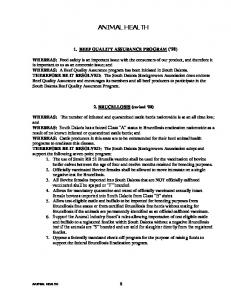 BEEF QUALITY ASSURANCE PROGRAM