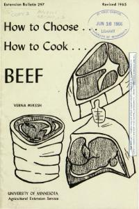 BEEF. r:::~ How to Choose. How to Cook... e-~ LIBt