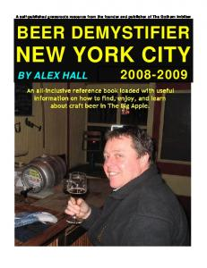BEER DEMYSTIFIER NEW YORK CITY