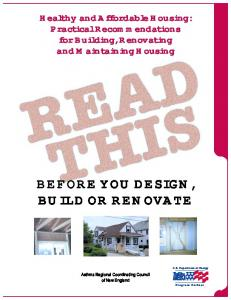 BEFORE YOU DESIGN, BUILD OR RENOVATE