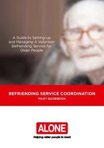 BEFRIENDING SERVICE COORDINATION PILOT GUIDEBOOK