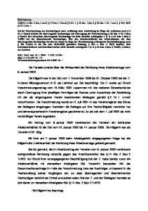 Befristung TzBfG 14 Abs. 2 Satz 1 und 2, 17 Satz 1; UmwG 2 Nr. 1, 19 Abs. 1 Satz 2, 20 Abs. 1 Nr. 1 und 2, 324; BGB 613 a Abs. 1