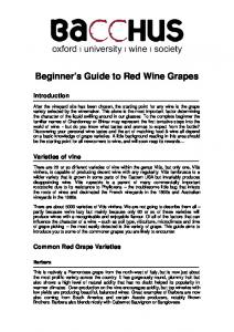 Beginner s Guide to Red Wine Grapes