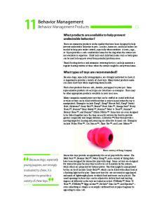 Behavior Management Behavior Management Products