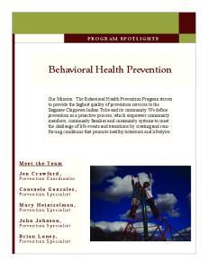 Behavioral Health Prevention