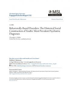 Behaviorally-Based Disorders: The Historical Social Construction of Youths' Most Prevalent Psychiatric Diagnoses