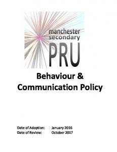 Behaviour & Communication Policy