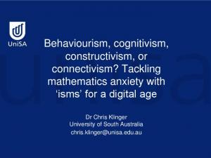 Behaviourism, cognitivism, constructivism, or connectivism? Tackling mathematics anxiety with isms for a digital age
