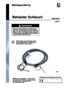 Beheizter Schlauch. Betriebsanleitung G WARNUNG. Ausgabe B