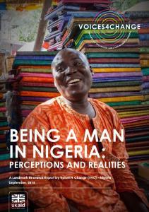 BEING A MAN IN NIGERIA: