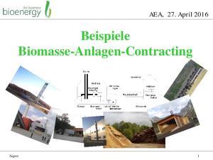 Beispiele Biomasse-Anlagen-Contracting