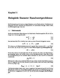 Beispiele linearer Randwertprobleme