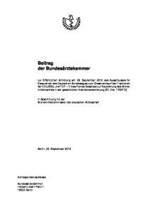 Beitrag der Bundesärztekammer