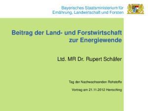 Beitrag der Land- und Forstwirtschaft zur Energiewende