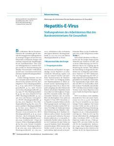 Bekanntmachung. Hepatitis-E-Virus