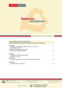 belarusanalysen DIE ORTHODOXE KIRCHE IN BELARUS DIE BELARUSSISCHEN MEDIEN UND DIE KRISE IN DER UKRAINE