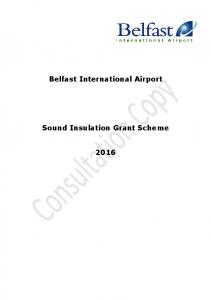Belfast International Airport. Sound Insulation Grant Scheme