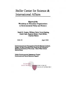 Belfer Center for Science & International Affairs