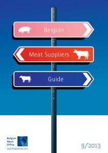 Belgian. Meat Suppliers. Guide