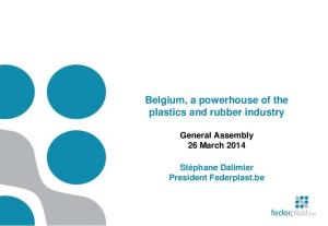 Belgium, a powerhouse of the plastics and rubber industry