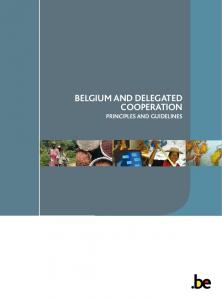 Belgium and Delegated CooperatioN Principles and Guidelines